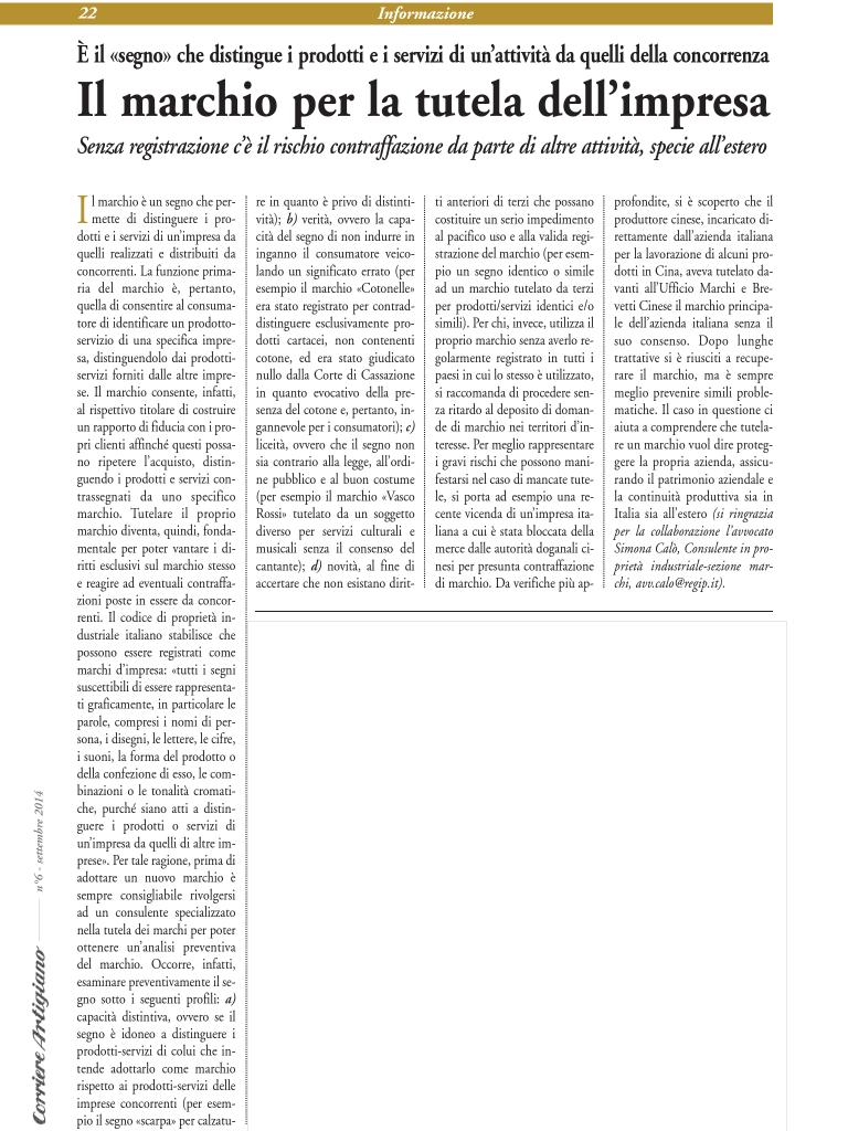 Articolo Corriere artigiano Ott2014
